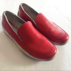 Authentic Prada Red Slip-on Shoes! ❤️